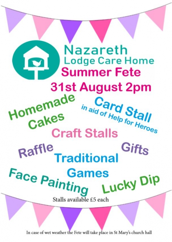 Countdown to our Summer Fete